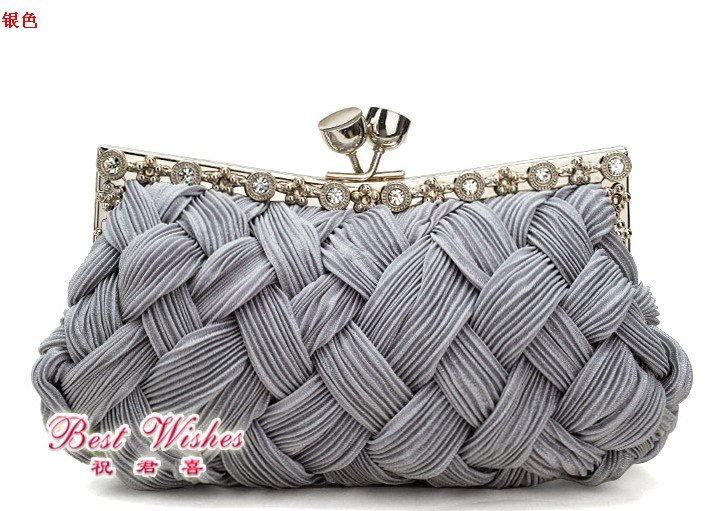 sell silver wedding bags ,clutches bag for freeshipping h8309(China (Mainland))