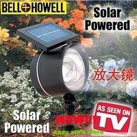4LED as seen on TV  Solar spot light for garden decorative 2pcs/lot Free shipping