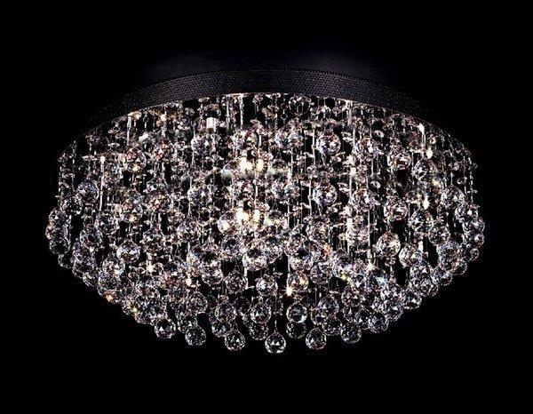 Raindrop Swarovski Crystal Modern Ceiling Mount Chandelier