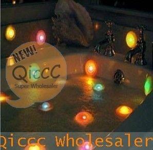 Wholesale 100pcs/lot Romantic Color change Waterproof  wimming pool SPA LIGHT Effects,bathtub bath pool light