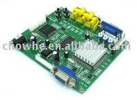 2 pcs/lot CGA/EGA/YUV TO VGA converter (1 VGA output) arcade game