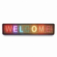 16 x 96 Pixels RGB Full Color Indoor LED Moving Sign with Pitch 7.62mm;762mm*160mm*80mm