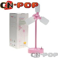 Free shipping Brand new Retro Dutch Windmill Fan USB battery dual use electric cool desk fans cute summer toy 10pcs/lot