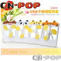 Free shipping Brand new Mini Fan USB electric cool frame fan cartoon fans portable summer toys 10pcs/lot