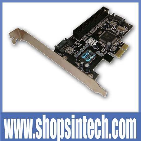 Free post shipping 100% new pcie pci express to IDE+sata raid adapter card(Hong Kong)