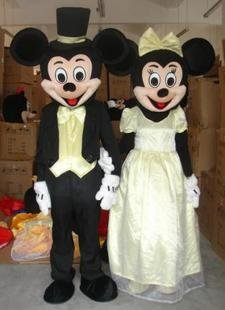 Mickey and Minnie Wedding MASCOT Free Shipping(China (Mainland))