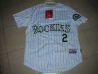 colorado rockies #2 tulowitzki white grey jerseys