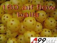 A99 golf 160pcs Yellow air flow GOLF BALL practice Plastic perforated