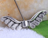 Freeshipping 120PC/LOT Tibetan Silver Wing Spacer Beads a2699