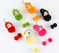 120 pcs Lovable Plush Toy Baby Mobile Charm Bag Hanging Ornaments Promotion Product Giveaways