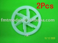 F00213-2,   2pcs White autorotation tail drive gear for  T-REX All 450 + Free shipping via CPAM