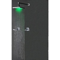 Chrome Wall-in LED Rainfall Shower Faucet - Free Shipping(IWL-002)