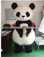 New Adult Size long piles Panda Mascost Costume lovely  Panda fancy costume
