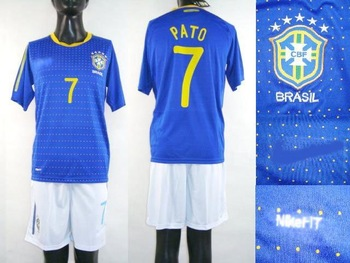 10pcs brazil football team's soccer shirt/football shirt/soccer uniform  + free shipping & gift