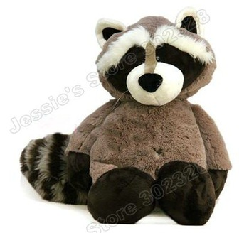 "Free shipping 11"" NICI Gray&Black Sitting Racoon Stuffed Plush,Stuffed toys gift"