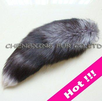 FREE SHIPPING High Quality  Fox Fur Tail Key Ring ~ Natural Colour ~ Drop Shipping