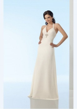 New fashion wedding dress Halter FREE SHIPPING