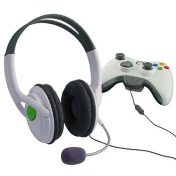 Headset HEADPHONE earphone FOR XBOX 360 LIVE w/ Mic 10pcs/Lot