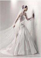 2011 year good quality wedding dress  backless Sweep Train