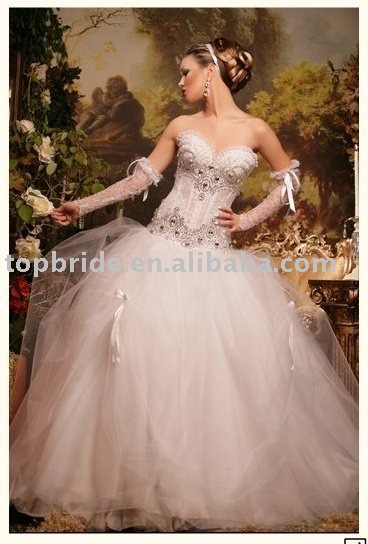 Gorgeous Middle East Style wedding dress / gown AM5(China (Mainland))