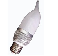 E14/E26/E27 base(please specify)3*1W led bulb;warm white;P/N:QP3W002