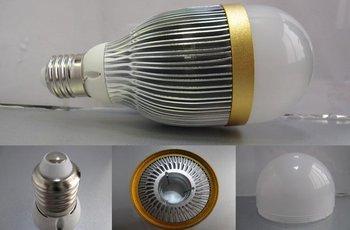 E27 base 9*1W led bulb;warm white;P/N:QP3W027