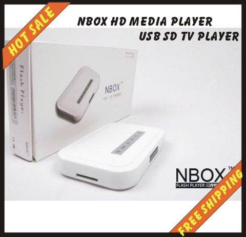 NBOX (N BOX)Digital Media Player For USB Drives Receiver Nbox HD Media Player USB SD TV Player N BOX for Home Theater(China (Mainland))