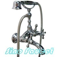 Brand New Chrome Finish Clawfoot Bathtub Faucet Handheld Shower 5663A Wholesale and Retail