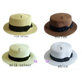 Fashion women&#39;s Straw Hats sunbonnet sun Cap Free ship(China (Mainland))