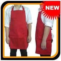 FREE SHIPPING NEW Red Kitchen Apron Cooking Apron Chef Apron Full Bib Apron