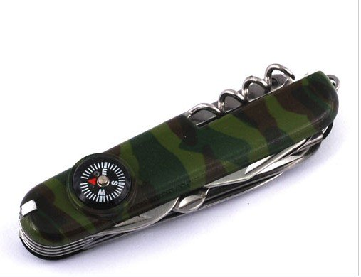 SABRE STYLE ARMY KNIFE LED LIGHT/COMPASS/BLADE NEW !!(China (Mainland))