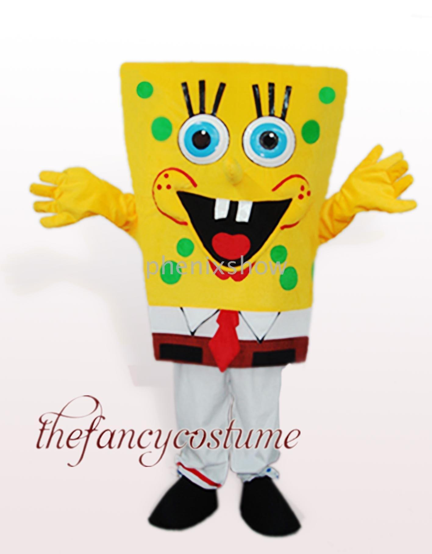 Mascot Costume Adult Kids Size Party Dress yellow Sponge Bob(China (Mainland))