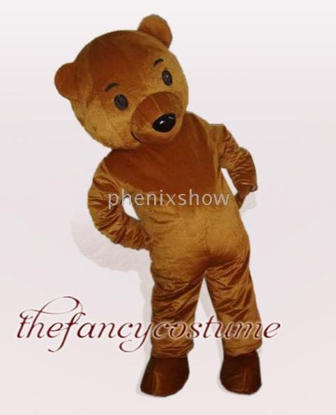 brown toy teddy bear Mascot Costume,fur costume.Free S/H(China (Mainland))
