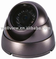 Dome camera with CCD sensor,12/24pcs IR LEDs.