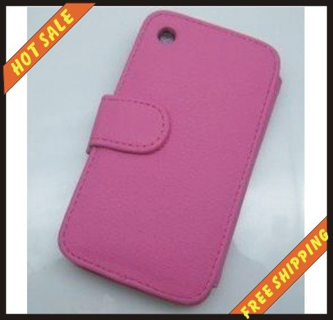 10pcs/lot--Hot sale-For iPhone 3G 3GS Leather Case(China (Mainland))