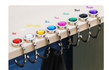 Wholesale NEW ONE FOLDING HAND BAG PURSE HOOK HANGER HOLDER