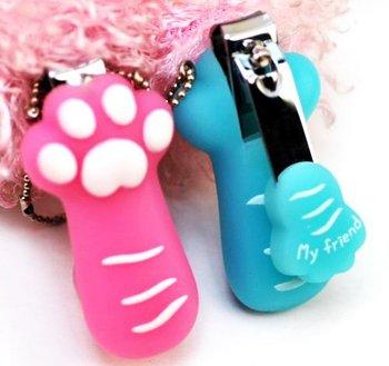 60 pcs Pet Cat Paw Mobile Charm Mini Nail Clippers Nail Scissors