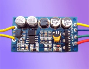 LED RGB constant current driver;DC12V input;RGB*3*1W/320ma output;size:43*23*10mm;P/N:AT2310