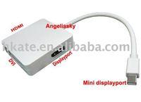 3 in 1 Mini displayport to HDMI, DVI, DP for macbooks