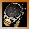 Unique Men's Sport Watch With Black PU Strap Free Shipping (NBW0SP5386-SS1)