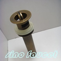 Free Shipping Brand new Antique Brass Flip Top Brain For Bathroom Sink Drain A1 Wholesale and Retail