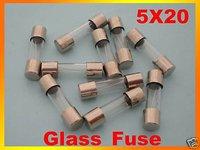100pcs 10A 250V Glass Fuse, 5mm x 20mm Fast Blow
