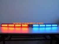 car light source Police Fire Red/Blue  Exclusive Split 1 Watt 32 LED Visor Deck Dash LightBar car styling Light Bar