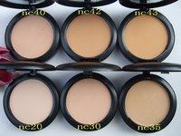 Lowest Price+Free shipping (12pcs)NEW Studio fix powder foundation fond de teint poudre +powder puffs 15g