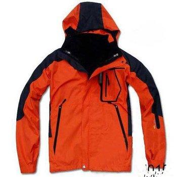 Men's name brand waterproof ski wear/camping wear/hiking wear/Technical 3 in 1 outdoor jacket,outwear