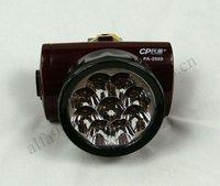 Free Shipping 6pcs/lot Wholesale 9 LED Rechargeable Portable Head Light