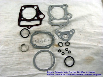 Free Shipping Repair Gaskets sets for 70-90cc Horizontal Engine Dirt bike,ATV, Parts@87093