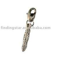 FREE SHIPPING 50pcs mixed styles tibetan silver charms clip on charm european style