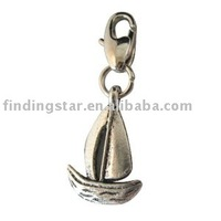 FREE SHIPPING 50pcs mixed styles of  tibetan silver CLIP ON  CHARMs mixlotcliponcharm1