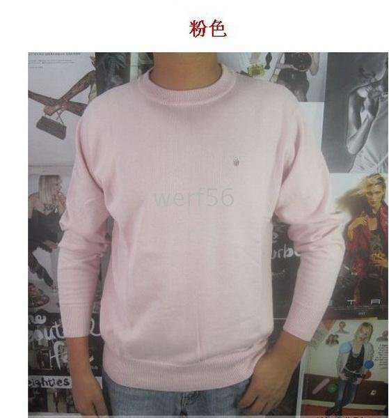 2 pieces/lots men&#39;s round-neck sweaters men round neck sweater sweaters #04(China (Mainland))